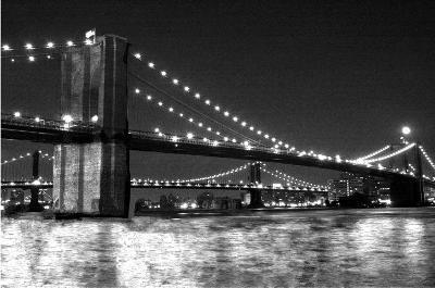 Brooklyn Bridge and Manhattan Bridge, Night-Phil Maier-Art Print