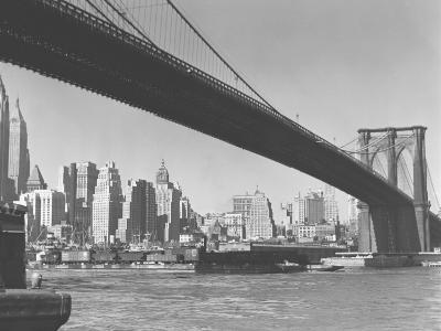 Brooklyn Bridge and Manhattan Skyline, New York City-George Marks-Photographic Print