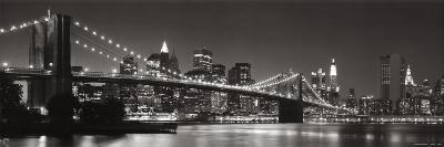 Brooklyn Bridge and Manhattan Skyline-Graeme Purdy-Art Print
