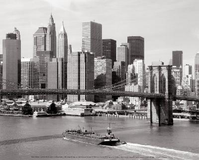 Brooklyn Bridge and Manhattan Skyline-Alan Schein-Art Print