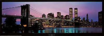 Brooklyn Bridge and New York City Skyline-Richard Sisk-Art Print