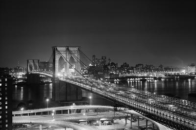 Brooklyn Bridge at Night-Philip Gendreau-Photographic Print