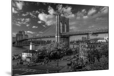 Brooklyn Bridge at sunset, NY NY - in black and white