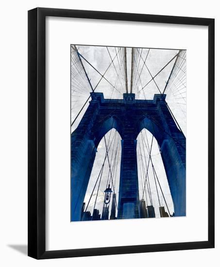 Brooklyn Bridge Blue--Framed Premium Giclee Print