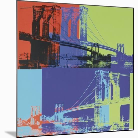 Brooklyn Bridge, c.1983 (Orange, Blue, Lime)-Andy Warhol-Mounted Giclee Print