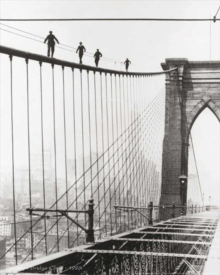 Brooklyn Bridge Climb, 1926-Unknown-Art Print