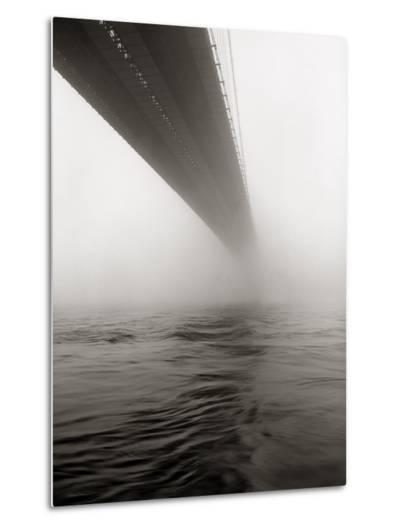 Brooklyn Bridge Fog-Henri Silberman-Metal Print