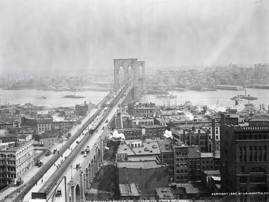 Brooklyn Bridge from World Building--Photographic Print