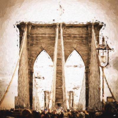Brooklyn Bridge II - In the Style of Oil Painting-Philippe Hugonnard-Giclee Print