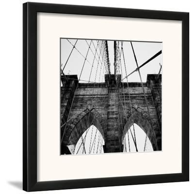Brooklyn Bridge II-Nicholas Biscardi-Framed Art Print