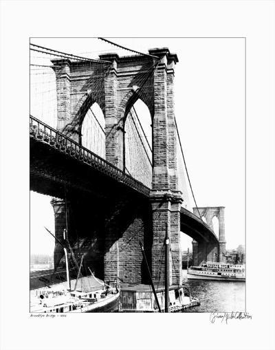 Brooklyn Bridge, New York, c.1925--Art Print