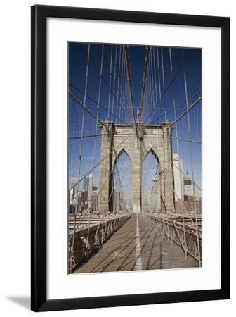 Brooklyn Bridge, New York City, New York 08-Monte Nagler-Framed Photographic Print