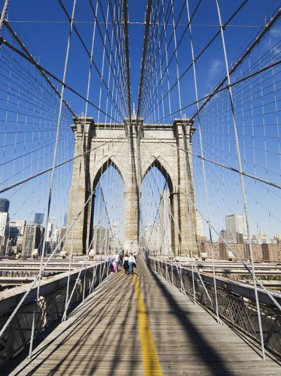 Brooklyn Bridge, New York City, New York, United States of America, North America-Amanda Hall-Photographic Print