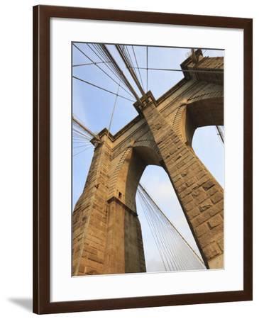 Brooklyn Bridge, New York City, New York, United States of America, North America-Amanda Hall-Framed Photographic Print