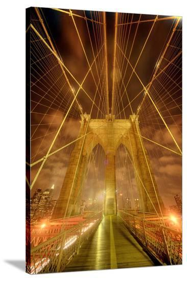 Brooklyn Bridge New York City--Stretched Canvas Print