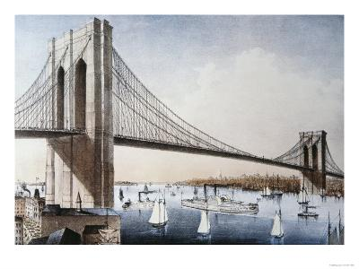 Brooklyn Bridge, New York City--Giclee Print