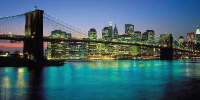Brooklyn Bridge, New York-Peter Bennet-Art Print