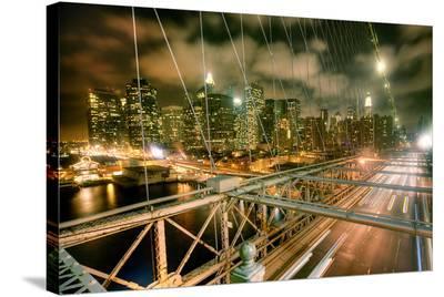 Brooklyn Bridge NewYork Skyline--Stretched Canvas Print