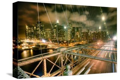 Brooklyn Bridge NewYork Skyline--Stretched Canvas Print