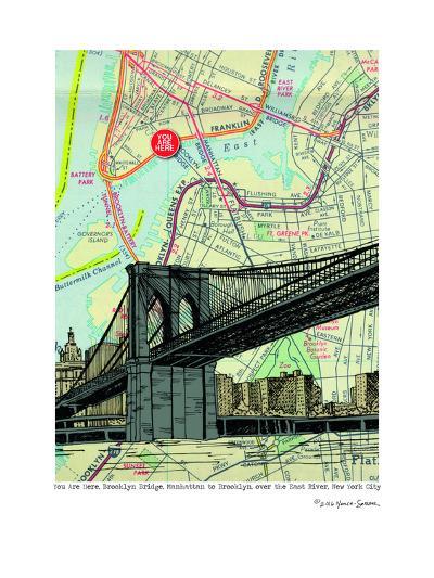 Brooklyn Bridge - Nyc--Art Print