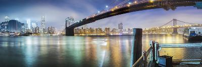 Brooklyn Bridge Pano 2-Color-Moises Levy-Photographic Print