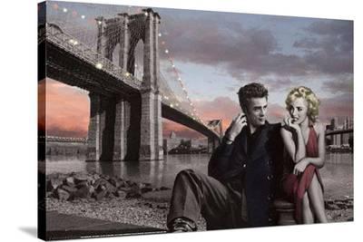 Brooklyn Bridge Poster-Chris Consani-Stretched Canvas Print