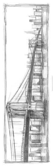 Brooklyn Bridge Sketch-Ethan Harper-Premium Giclee Print
