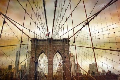 Brooklyn Bridge Sunset-Jessica Jenney-Giclee Print