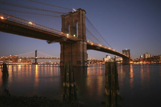 Brooklyn Bridge Twilight-Chris Bliss-Photographic Print