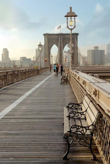 Brooklyn Bridge Walkway No. 2-Alan Blaustein-Photographic Print