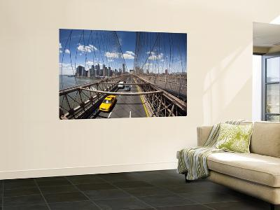 Brooklyn Bridge with South Manhattan in Background-Huw Jones-Wall Mural