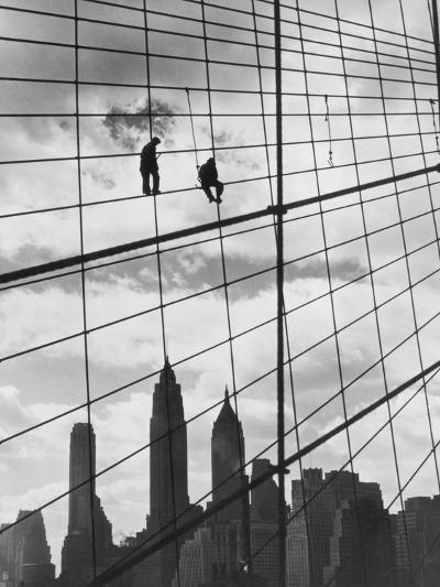 Brooklyn Bridge Workers-Archive Photos-Photographic Print