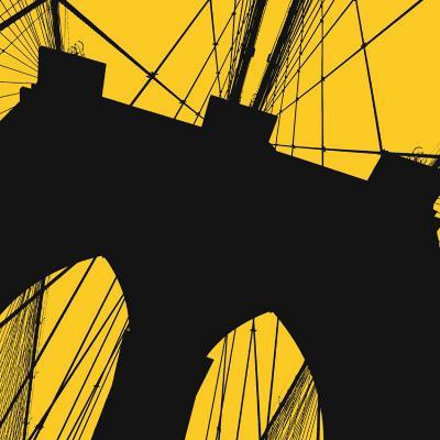 Brooklyn Bridge (yellow)-Erin Clark-Art Print