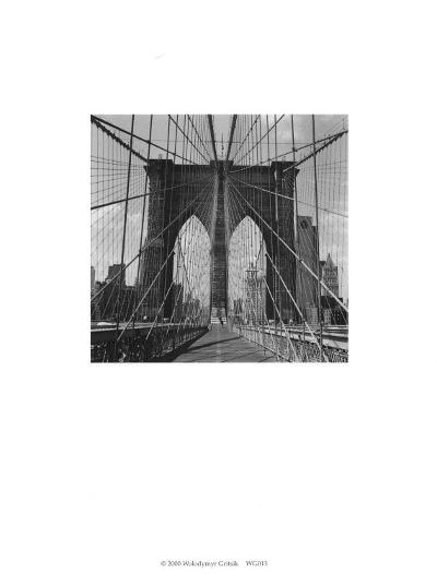 Brooklyn Bridge-Walter Gritsik-Art Print