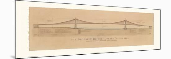 Brooklyn Bridge-Craig Holmes-Mounted Print