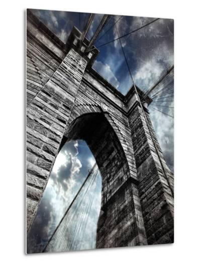 Brooklyn Bridge-Andrea Costantini-Metal Print
