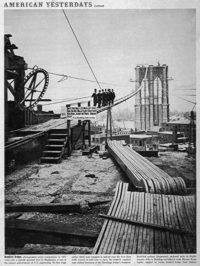 Brooklyn Bridge-Hulton Archive-Photographic Print
