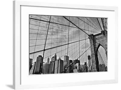 Brooklyn Bridge-Bill Carson Photography-Framed Photographic Print