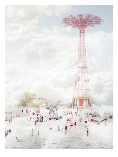Brooklyn Eiffel Tower-Mina Teslaru-Art Print