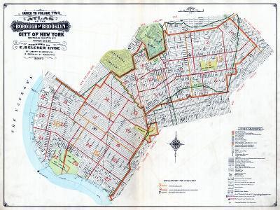 Brooklyn Map--Giclee Print
