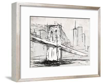 Brooklyn Sketch-OnRei-Framed Art Print