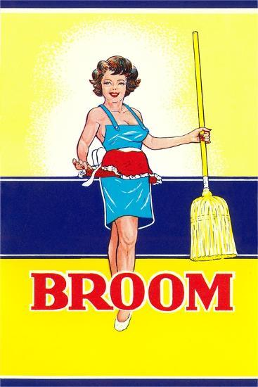 Broom Label, Sexy Housewife--Art Print