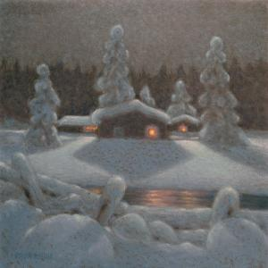 Winter Night by Bror Lindh