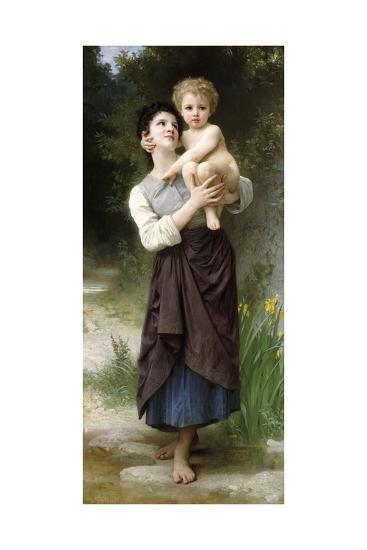 Brother and Sister, 1887-William Adolphe Bouguereau-Giclee Print