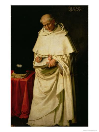 Brother Pedro Machado (D.1604)-Francisco de Zurbar?n-Giclee Print