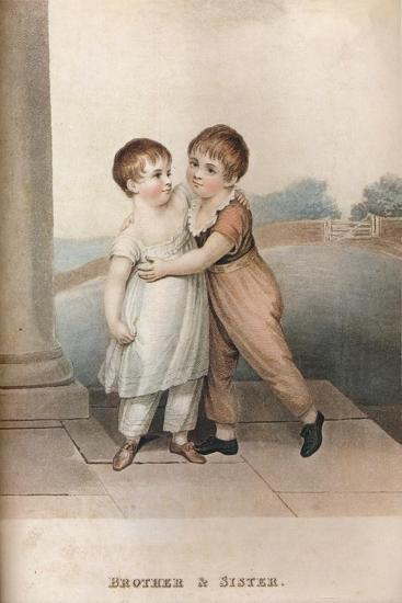 'Brother & Sister', c18th century-Unknown-Giclee Print