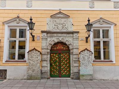 Brotherhood of the Blackheads House in Tallinn, Estonia- joymsk-Photographic Print