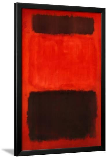 Brown and Black in Reds, 1957-Mark Rothko-Framed Art Print