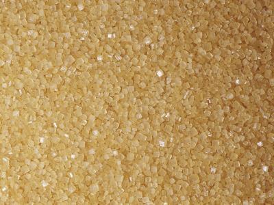 Brown and Coarse Turbinado Sugar Crystals from Sugarcane (Saccharum Officinarum)-Ken Lucas-Photographic Print