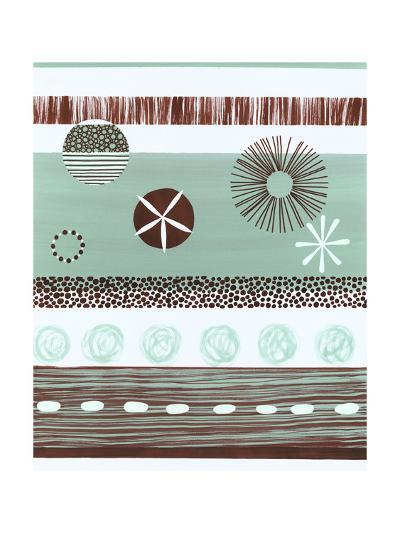 Brown and Green Abstract--Art Print